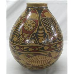 Mata Ortiz Polychrome Turtle/Fish Pot by Gonzales