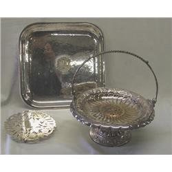 3 Silverplate Serving Pieces