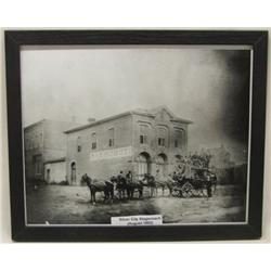 Vintage Photo Print of Stagecoach in Silver City
