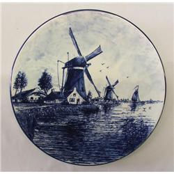 Delft Blue Handpainted Plate 1970s