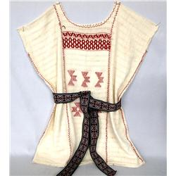Vintage Mexican Blouse & Belt