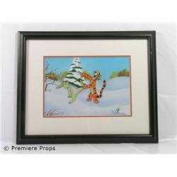 Winnie the Pooh Rabbit & Tigger Framed Production Cel