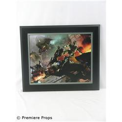 Halo Boarding Giclee on Canvas Framed