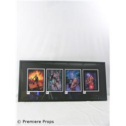Buffy Mini Set of 4 Giclee on Paper Framed