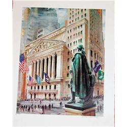 Kamil Kubik, Washingtons Statue, Signed Serigraph