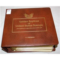 Album Of 22k Golden United States Stamps