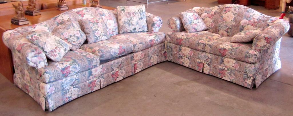 Image 1 : Flower Print Sofa U0026 Love Seat ...