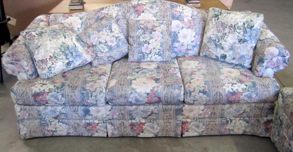 ... Image 2 : Flower Print Sofa U0026 Love Seat ...
