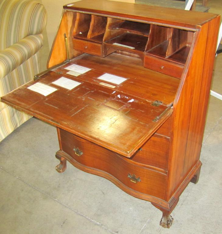 Old fashioned secretary desk Sydney - Filing Cabinet: Old Fashioned Secretary Desk