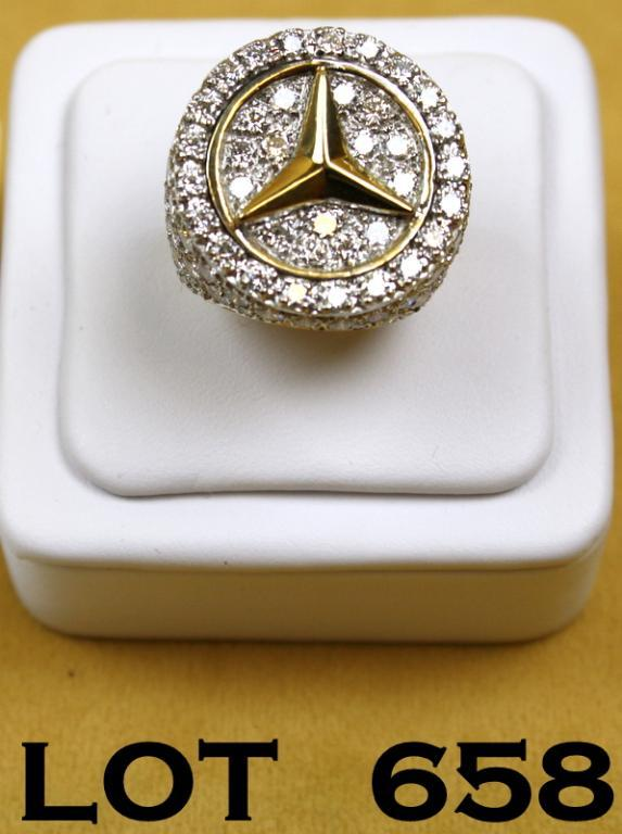 14kt yellow gold mercedes ring weighing 19 grams with 109. Black Bedroom Furniture Sets. Home Design Ideas
