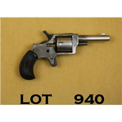 "Antique Bulls Eye spur trigger pocket revolver,  .22 cal., 2-1/2"" round barrel, nickel finish,  chec"