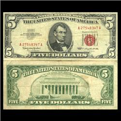 1963 $5 US Note Better Circulated (CUR-06052)