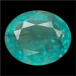 1.7ct Oval Cut Blue Green Natural Apatite Neon Copper Bearing (GEM-24052)
