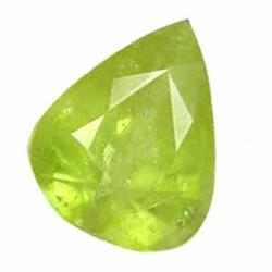2.75ct Twinkling Natural Pear Afghan Green Sphene (GEM-24827)