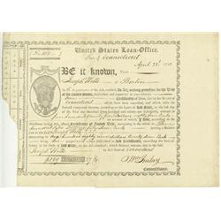 United States Loan Office Certificate