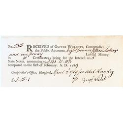 State Notes Signed By A Connecticut Patriot Who Answered The Lexington Alarm!