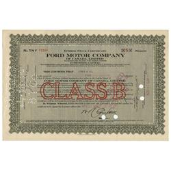 Scarce Issue - Ford Motor Company Of Canada, Limited