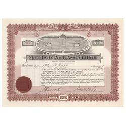 An Extremely Early Automobile Racing Certificate! Speedway Park Association