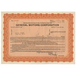 Scarce Early General Motors Corp. Warrant