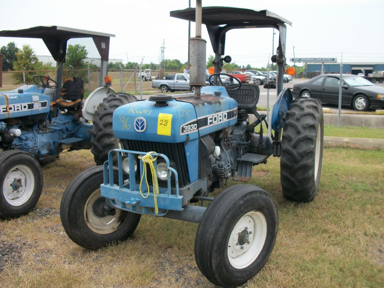 1996 New Holland Tractor : Ford new holland tractor