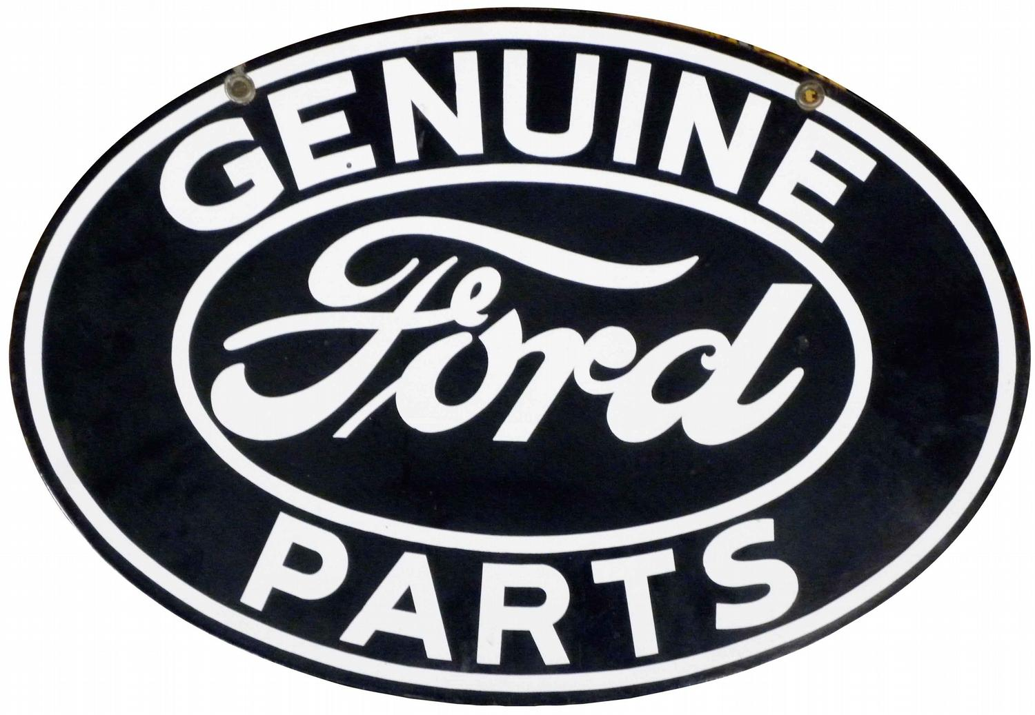 Genuine Ford Parts >> Genuine Ford Parts Porcelain Sign