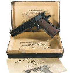 Excellent Pre-War Colt Ace Semi-Automatic Pistol with Original Box