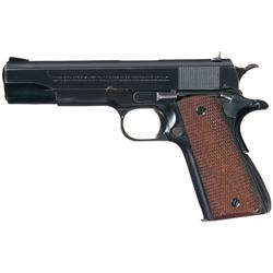 Excellent Pre-War Colt Government Model National Match Semi-Automatic Pistol