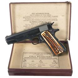 Colt Government Model Semi Automatic Pistol with Original Box and Boxed 22 Conversion Kit
