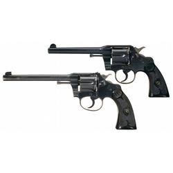Two Colt Double Action Revolvers -A) Colt Army Special Double Action Revolver   B) Colt Police Po