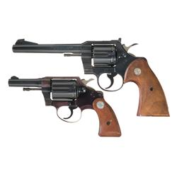 Two Colt Double Action Revolvers -A) Colt Officers Model Match Double Action Revolver   B) Scarce