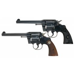 Two Pre-War Colt Double Action Revolvers -A) Colt Army Special Double Action Revolver   B) Colt O