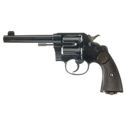 Excellent Colt New Service Double Action Revolver in 455 Eley