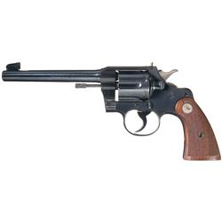 Excellent Colt Officers Model .22 Double Action Revolver with Case