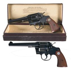 Two Colt Official Police Double Action Revolvers -A) Colt Official Police Double Action Revolver wit