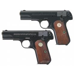 Two Colt Pistols -A) Colt Model 1908 Hammerless 380 Semi-Automatic Pocket Pistol   B) Colt Model