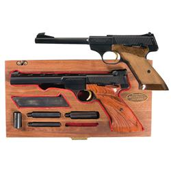 Two Browning Target Pistols -A) Browning Challenger Semi-Automatic Target Pistol   B) Browning Me