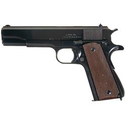 Extraordinary Singer Manufacturing Co. Model 1911A1 Semi-Automatic Pistol with History