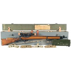 Excellent World War II British No.4 MK1(T) Sniper Rifle with Transit Case and Accessories