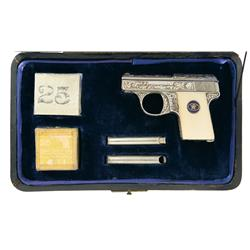 Cased Factory Relief Engraved Walther Model 9 Semi-Automatic Pistol Attributed to Adolf Hitler