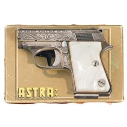 Factory Engraved Astra Cub 2002 Semi-Automatic Pistol with Box