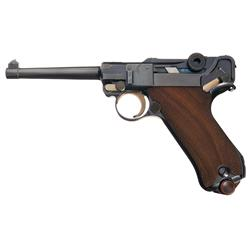 "Exceptionally Rare 06/34 DWM Mauser ""A.F. Stoeger"" Marked Eagle Luger Pistol"