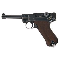 Excellent WWII Mauser (S/42) 1937 Luger Military Semi Automatic Pistol