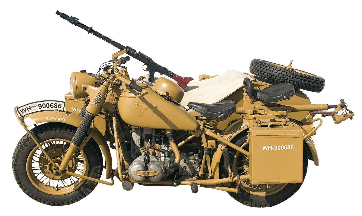 extremely rare wwii nazi military bmw r75 motorcycle and sidecar