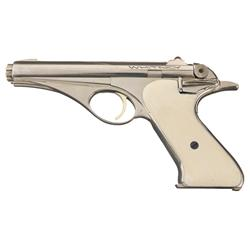 Extremely Rare Configured Whitney Wolverine Semi-Automatic Pistol in Scarce Nickel Finish with Simul