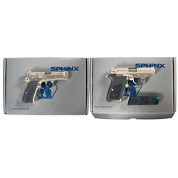 Two Sphinx Boxed Semi-Automatic Pistols -A) Sphinx Model AT-2000P Pistol with Box   B) Sphinx Mod