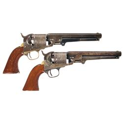 Two Manhattan Firearms Navy Type Percussion Revolvers -A) Manhattan Firearms Navy Type Percussion Re