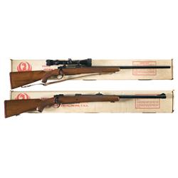 Two Boxed Ruger Model 77 Bolt Action Rifles -A) Ruger Model 77V Bolt Action Rifle with Scope and Box