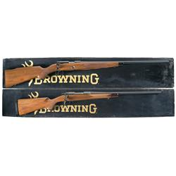 Two Boxed Browning Bolt Action Rifles -A) Browning Model 52 Sporter Limited Edition Bolt Action Rifl