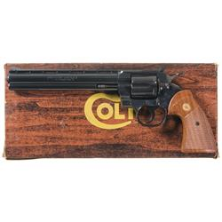 Scarce Colt Python Target Model 38 Special Double Action Revolver with Box