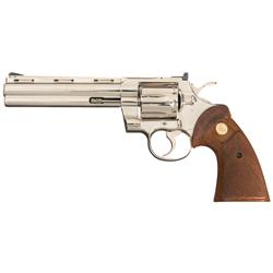 Polished Stainless Steel Colt Python Model Double Action Revolver